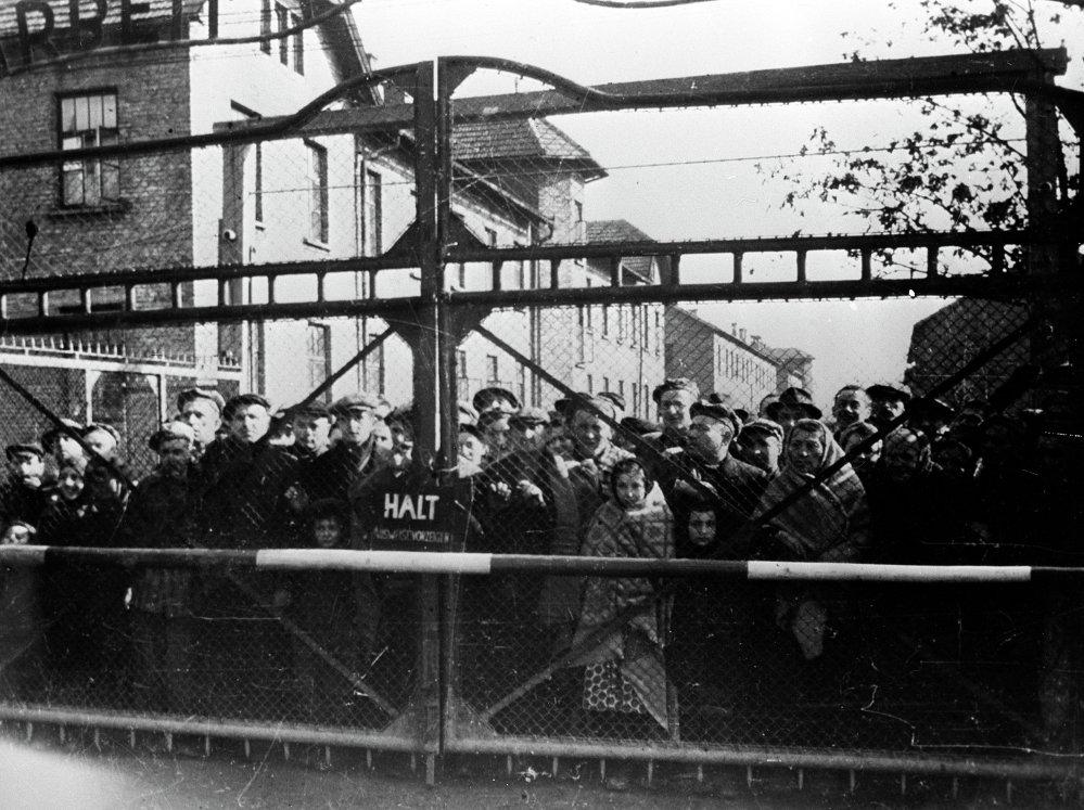 Prisioneros de Auschwitz antes de la liberación por el Ejército Rojo. Enero de 1945