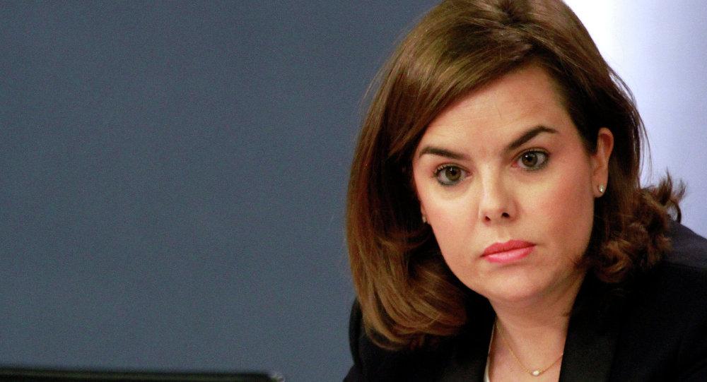 Soraya Sáenz de Santamaría, la vicepresidenta del Gobierno, ministra de la Presidencia y portavoz del Gobierno