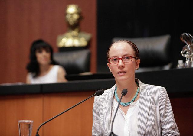 Gabriela Cuevas, presidenta de la Comisión de Relaciones Exteriores de la Cámara de Senadores de México