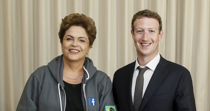 Presidenta de la República de Brasil Dilma Rousseff, y creador de la red social Facebook Mark Zuckerberg