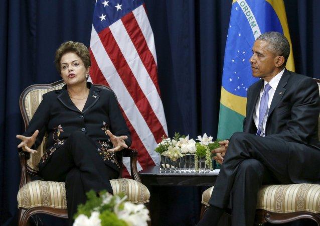 El presidente de EEUU, Barack Obama, mantiene una reunión bilateral con la presidenta de Brasil, Dilma Rousseff