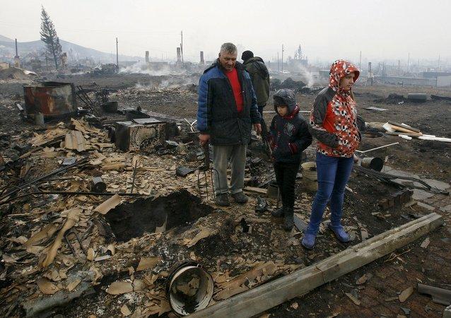 Incendios en Jakasia