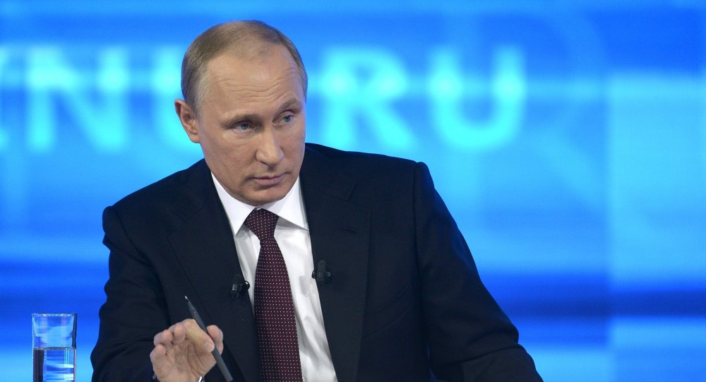 """Línea directa"" con Vladímir Putin (archivo)"