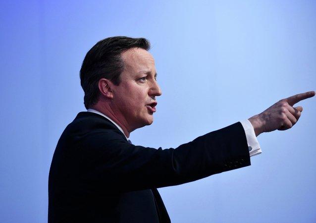 David Cameron, primer ministro de Reino Unido durante su campaña electoral