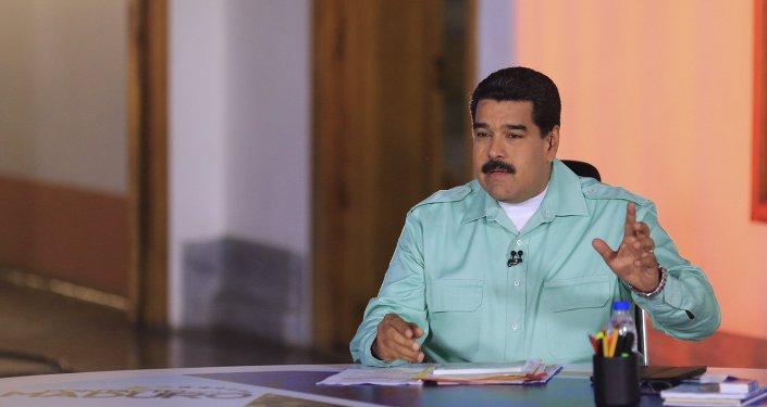 Presidente de Venezuela, Nicolás Maduro, durante el programma semanal 'Contacto con Maduro'