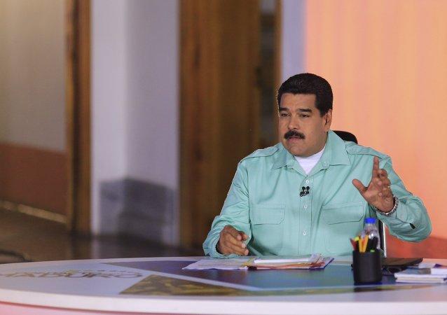 Nicolás Maduro, durante el programa semanal 'Contacto con Maduro'