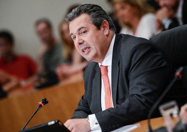 Panos Kamenos, líder del partido Griegos Independientes
