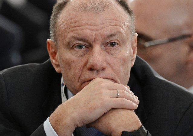 Vladímir Potanin, presidente de la compañía inversionista Interros