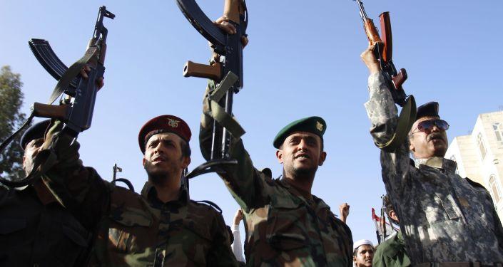 Protestas en Saná contra la resolución de la ONU sobre Yemen
