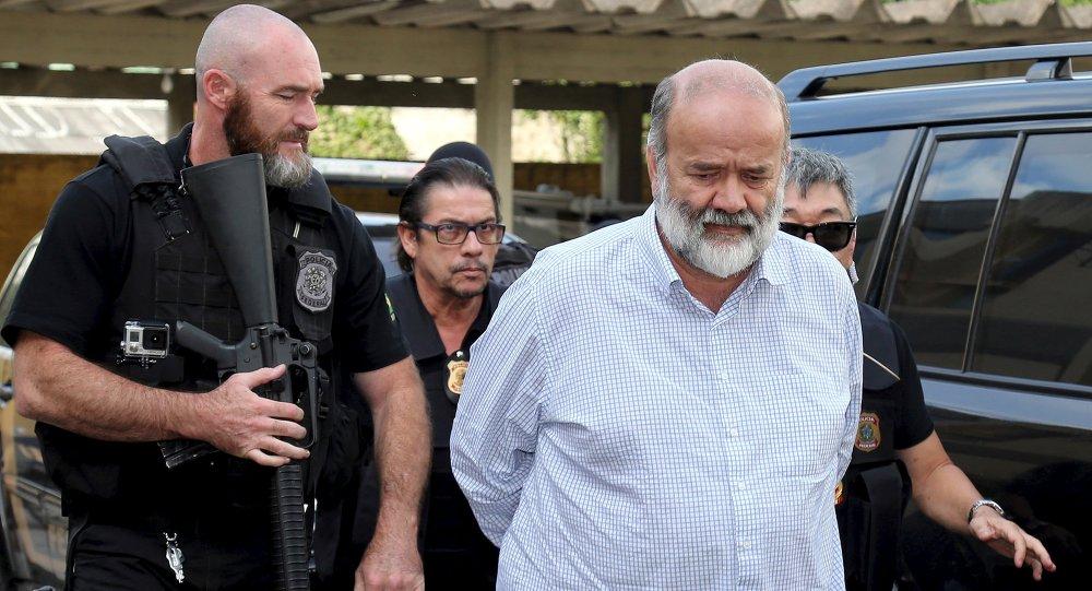 Detención del tesorero del Partido de los Trabajadores (PT), Joao Vaccari. 15 de abril de 2015