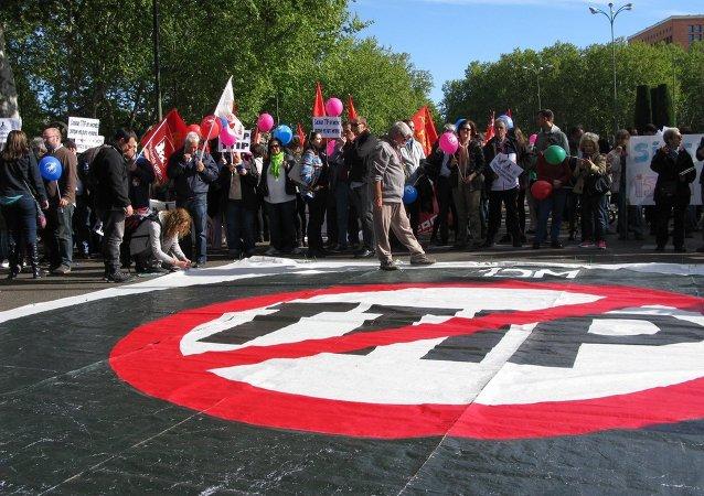 Manifestación contra el Tratado TTIP en Madrid