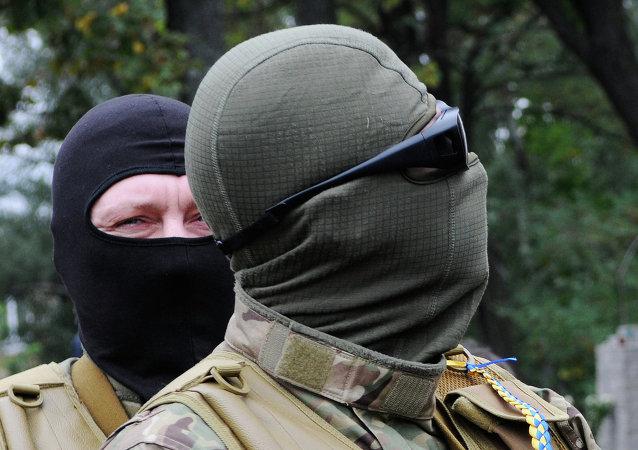 Voluntarios del batallón especial Sich (archivo)