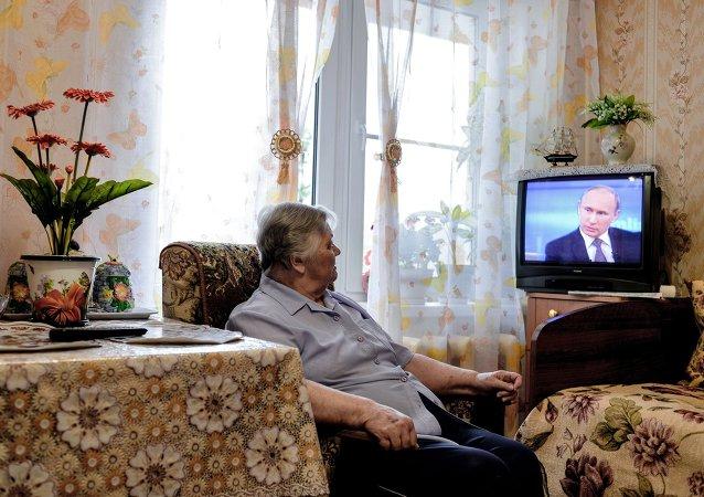 La línea directa con Putin atrajo a un número récord de espectadores en 2015