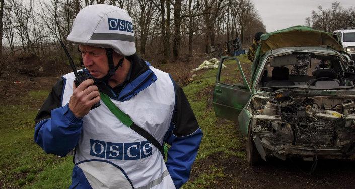 Observador de la OSCE en Donbás (Archivo)