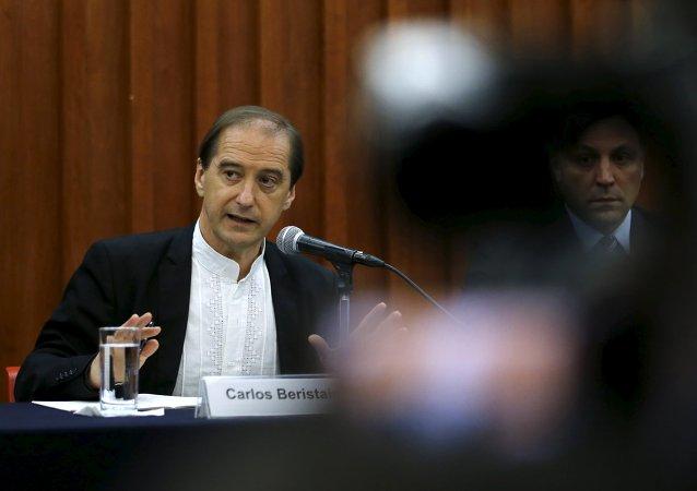 Carlos Beristain, portavoz de la Comisión Interamericana de los Derechos Humanos (CIDH). 20 de abril de 2015