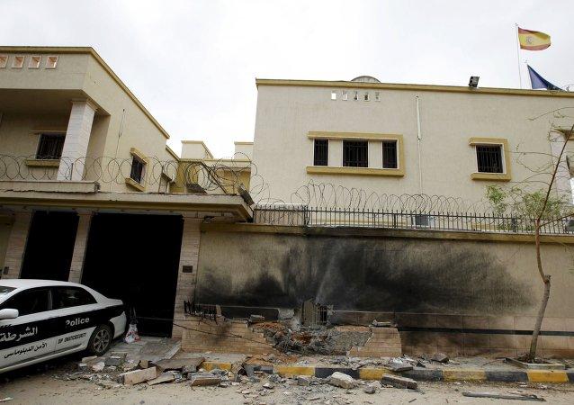 Consecuencias de un atentado contra la embajada de España en Trípolí, Libia