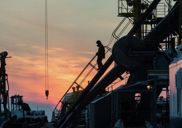 Campo de petróleo y gas en la región de Krasnoyarsk
