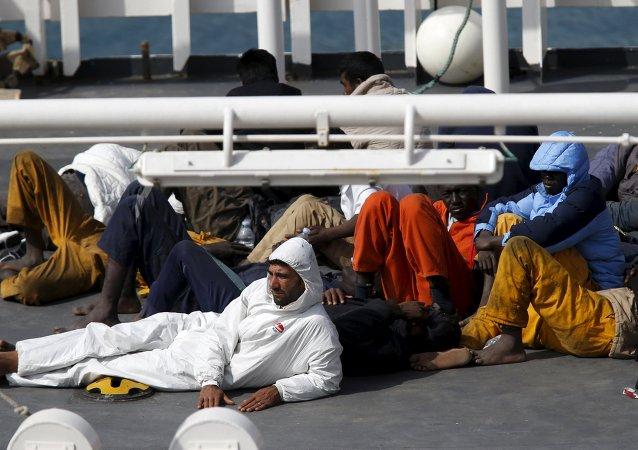 Los sobrevivientes del naufragio en el Mediterráneo