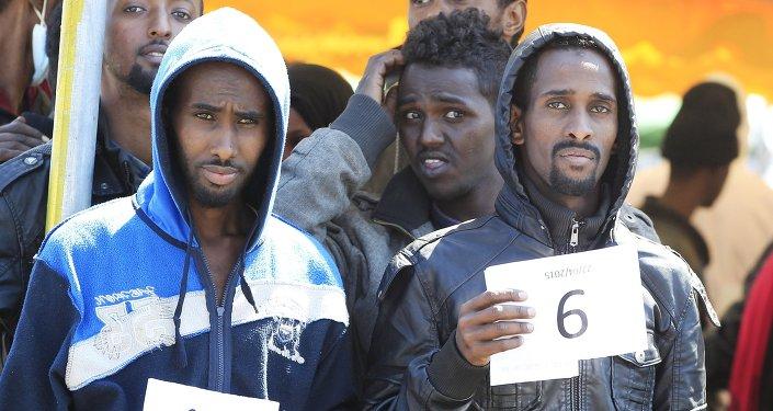 Migrantes en Italia