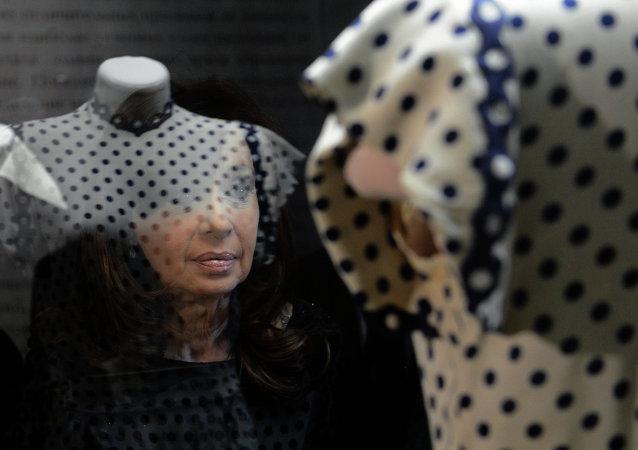 La presidenta Cristina Fernández de Kirchner inauguró la muestra Evita, la embajadora de la paz en el Museo Histórico de Moscú
