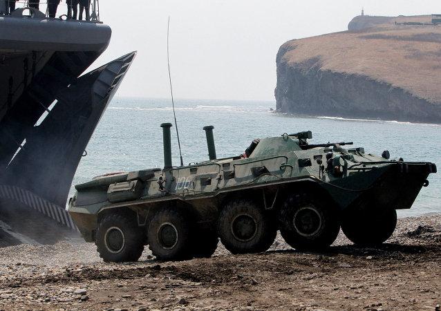 La Infantería de Marina de la Flota rusa del Pacífico realiza simulacros