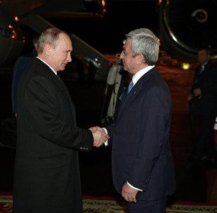 El presidente de Rusia, Vladímir Putin, y el presidente del Armenia, Serzh Sargsián
