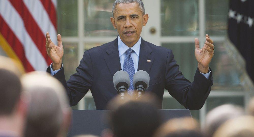 El presidente saliente de EEUU, Barack Obama