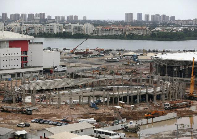 Construcción del Velódromo en el Parque Olímpico de Río de Janeiro