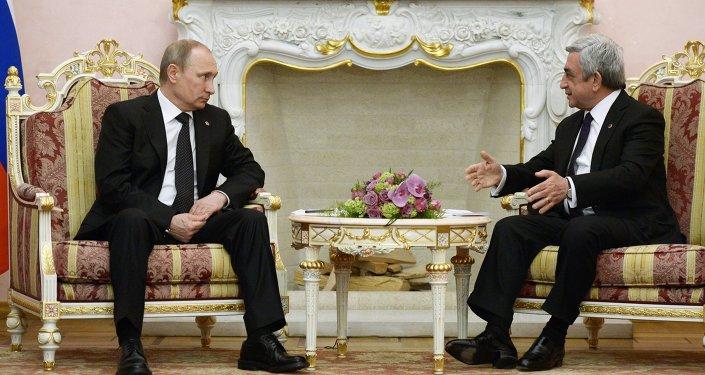 Vladímir Putin y Serzh Sargsyan