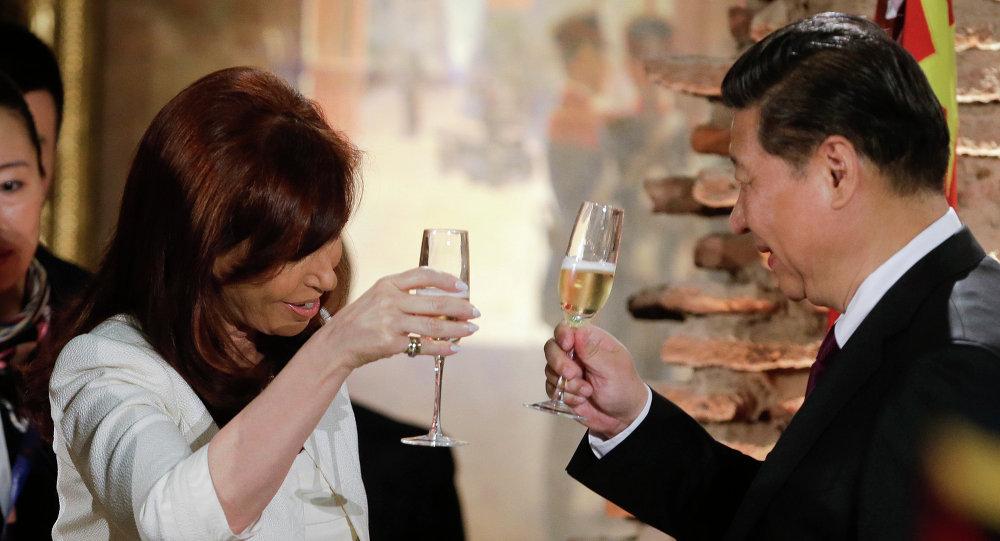 Presidenta de Argentina, Cristina Fernández de Kirchner y presidente de la República Popular China, Xi Jinping