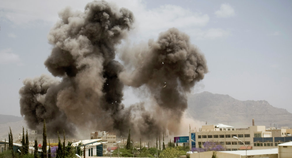 Bombardeos de Saná, la capital de Yemen