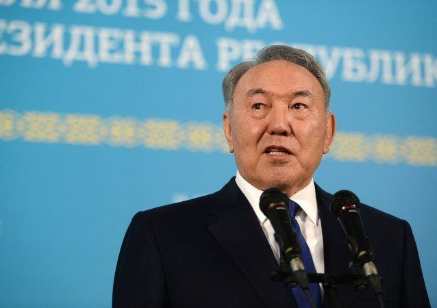 Nursultán Nazarbáev, actual presidente de Kazajistán