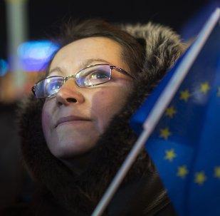 Ucranianos que apoyan la integración del país en la UE