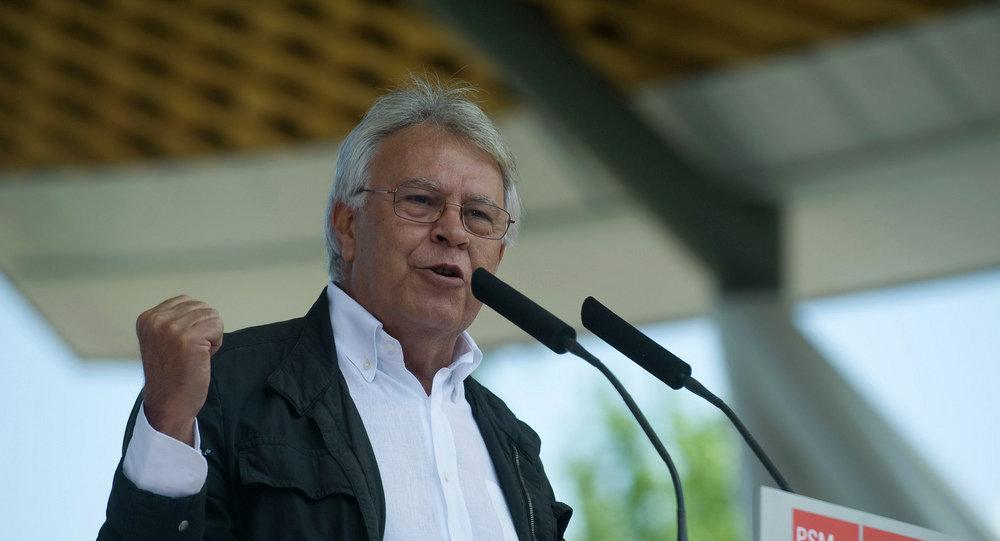 Felipe González, socialista, expresidente del Gobierno español