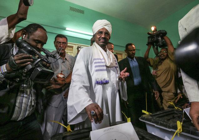Omar al Bashir, presidente de Sudán en ejercicio