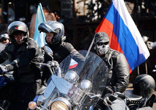 Moteros rusos Los Lobos Nocturnos