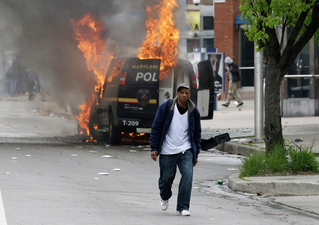 Protesta en Baltimore