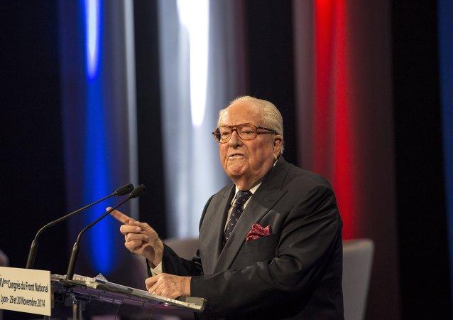 Jean Marie Le Pen, fundador del Frente Nacional (FN)