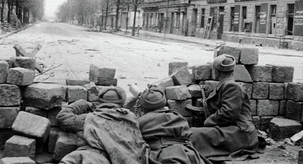 Soldados soviéticos en Viena