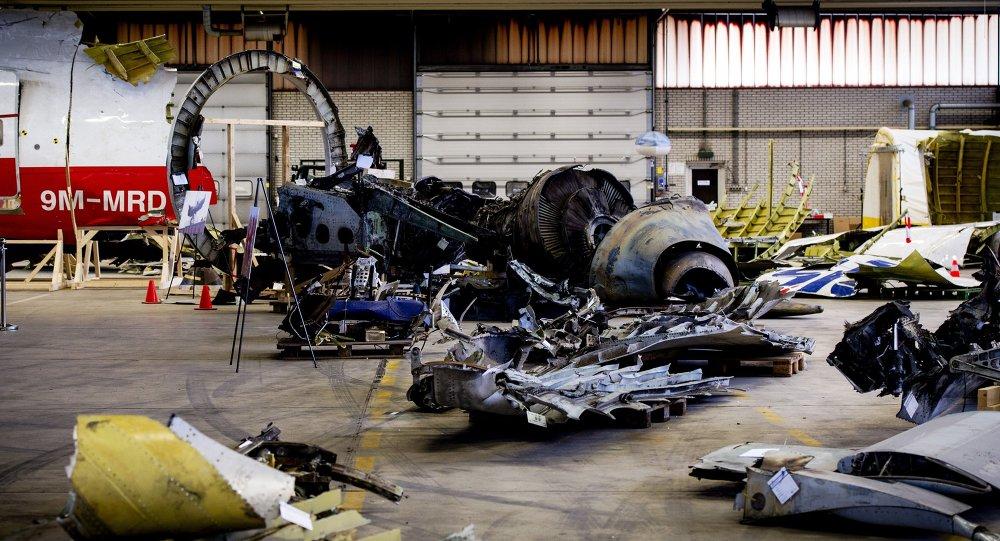 Los escombros del Boeing 777 de la compañía Malaysia Airlines derribado en la región de Donetsk