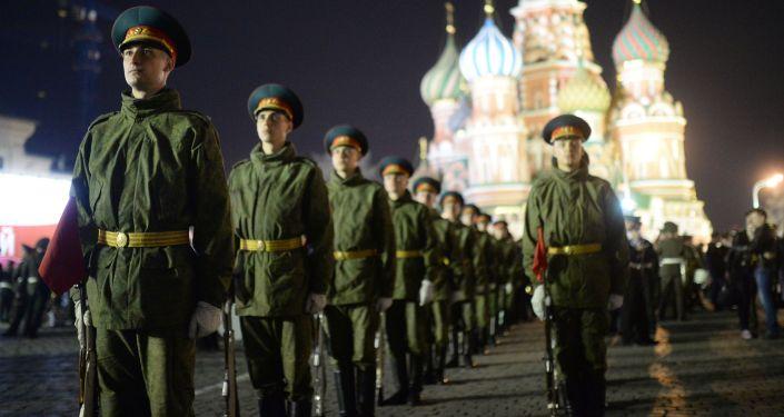 Ensayo del Desfile de la Victoria en Moscú