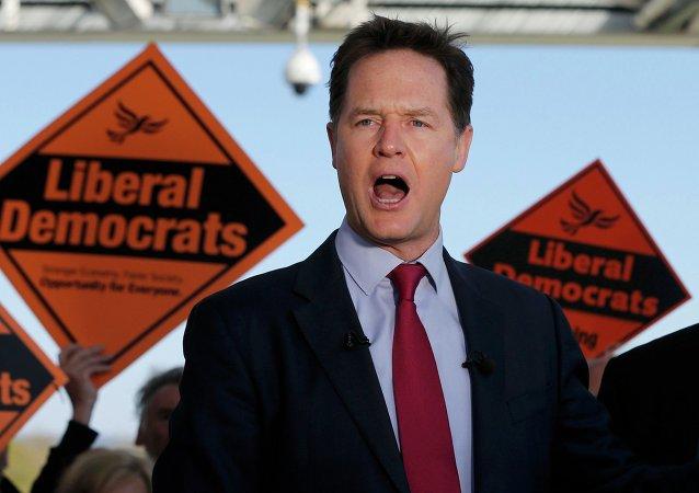 Nick Clegg,  líder del Partido Liberal Demócrata