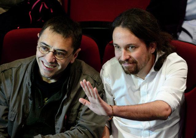 Juan Carlos Monedero y Pablo Iglesias (Archivo)