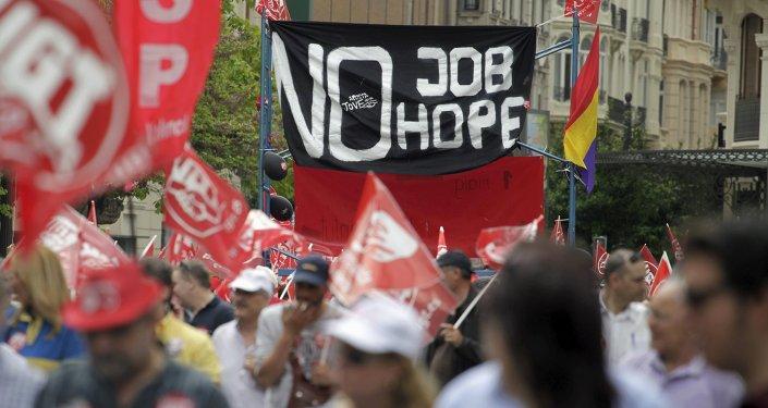 Las manifestaciones de los principales sindicatos en España (archivo)