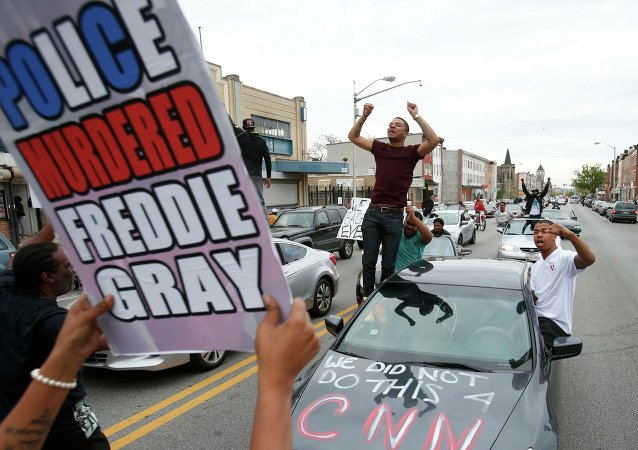 La protesta en Baltimore