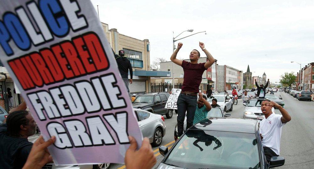 La protesta en Baltimore