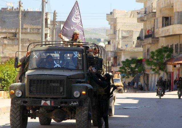 Combatientes de al Nusra (archivo)