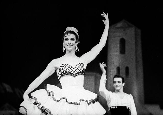 Maya Plisétskaya en el ballet Don Quixote (archivo)