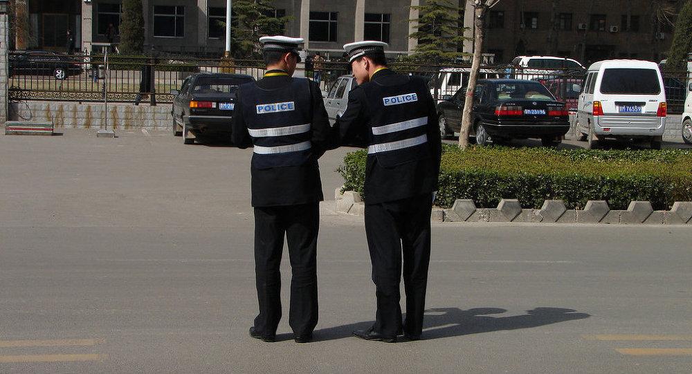 La policía de China