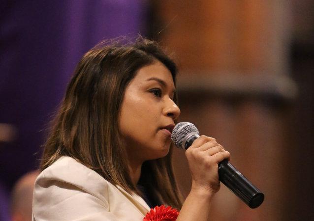 Tulip Siddiq, candidata del Partido Laborista en un distrito electoral del norte de Londres
